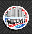 logo for miami vector image