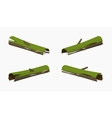 Low poly rotten log vector image vector image