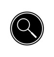 magnifier round flat icon vector image
