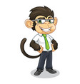 monkey with business appearance vector image