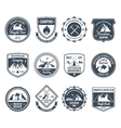 Mountain Adventure Emblems Black vector image vector image