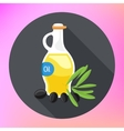 Olive Oil bottle flat icon vector image vector image