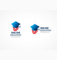 online education logo riding hood vector image
