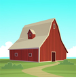 Red Farm Barn vector image