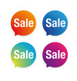 sale label speech bubble set vector image