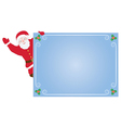 Santa Claus with card vector image vector image
