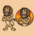 set of cartoon lion character vector image