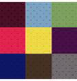Set of seamless polka dot patterns vector image vector image