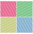 Set of simple colorful seamless patterns dots vector image vector image
