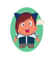 shocked avatar of funny little person cartoon vector image vector image