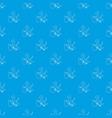 standing lizard pattern seamless blue vector image vector image