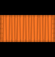 striped orange rectangle background with cute vector image vector image