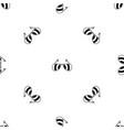 sunglasses pattern seamless black vector image vector image