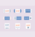 template tickets collection vintage grunge vector image