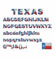 texas flag font on a brick wall vector image