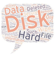 The Hard Disk Wipe Process text background vector image vector image