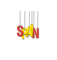 the word spain hang on the ropes vector image