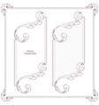 two vintage antique ornamental frames are made in vector image
