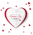 valentine greeting card with inscription of happy vector image