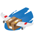 Winged Package express delivery vector image vector image