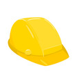 yellow construction helmet on white background vector image