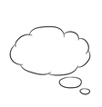 Cloud thought fly white of vector image