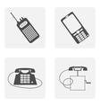 monochrome icon set with phone vector image