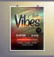 abstract party music flyer brochure template with vector image