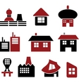 buildings and signs vector image