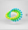 3d spheres composition art design element vector image