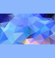 abstract irregular polygonal background light blue vector image vector image