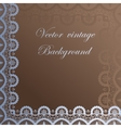 Abstract square lace frame with paper swirls vector image vector image