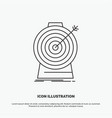 aim focus goal target targeting icon line gray vector image vector image