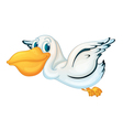 Animated pelican vector image vector image