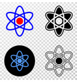 atom model eps icon with contour version vector image