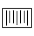 barcode pixel perfect thin line icon 48x48 vector image vector image