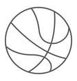 basketball ball thin line icon sport and game vector image vector image
