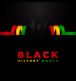 black history month design template background vector image vector image