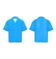 blue polo shirt vector image