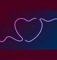 blue purple electric neon heart abstract vector image vector image