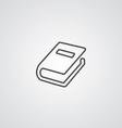 book outline symbol dark on white background logo vector image