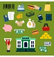 Business finance banking and shopping flat icons vector image vector image