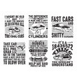 car quote and saying set bundle best for print vector image vector image