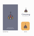 church company logo app icon and splash page vector image vector image