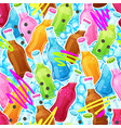 color drinks seamless pattern vector image