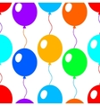 Colorful bright balloons flat style seamless vector image