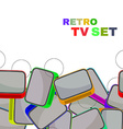 Colorful Retro Tv set isolated vector image vector image