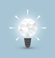 Crumpled paper light bulb Idea concept vector image