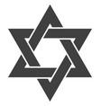 david star flat icon symbol vector image