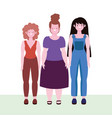 diversity and inclusion happy women different vector image vector image